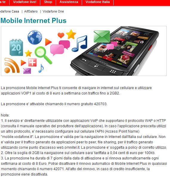 Vodafone Mobile Internet Plus