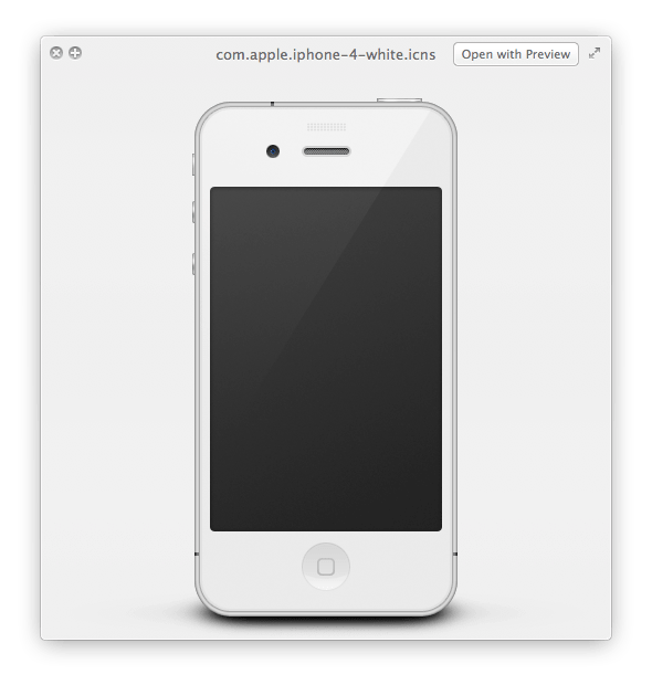 iPhone 4 Bianco su Mac OS X Lion