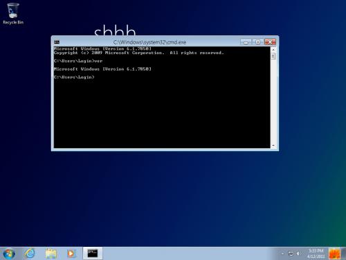 Windows 8 Milestone 1 riga di comando