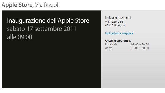 Inaugurazione Apple Store Bologna
