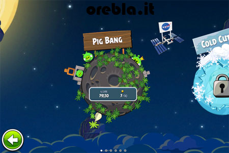 Angry Birds Space: i livelli