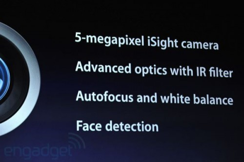 iPad 3 fotocamera 5MPX