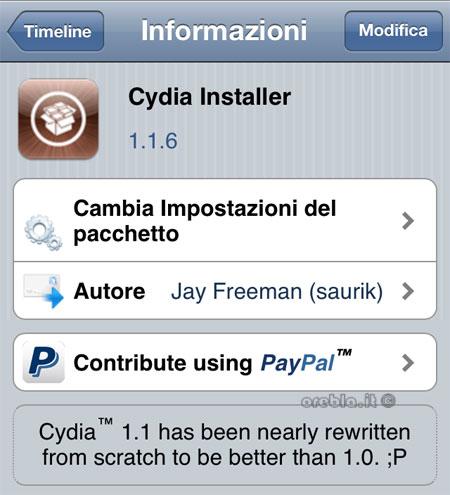 Cydia si aggiorna: 1.1.6