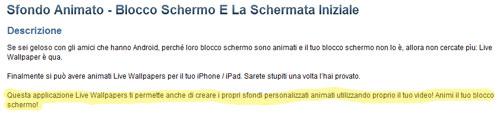 Descrizione App su App Store