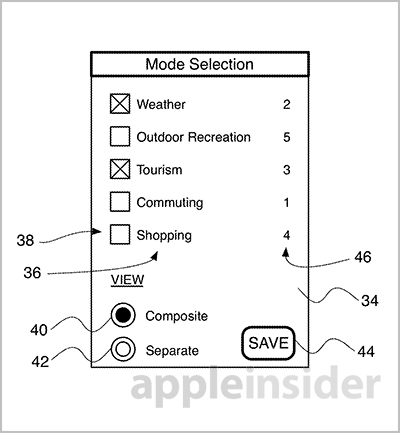 brevetto apple mappe