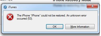 error53 iphone