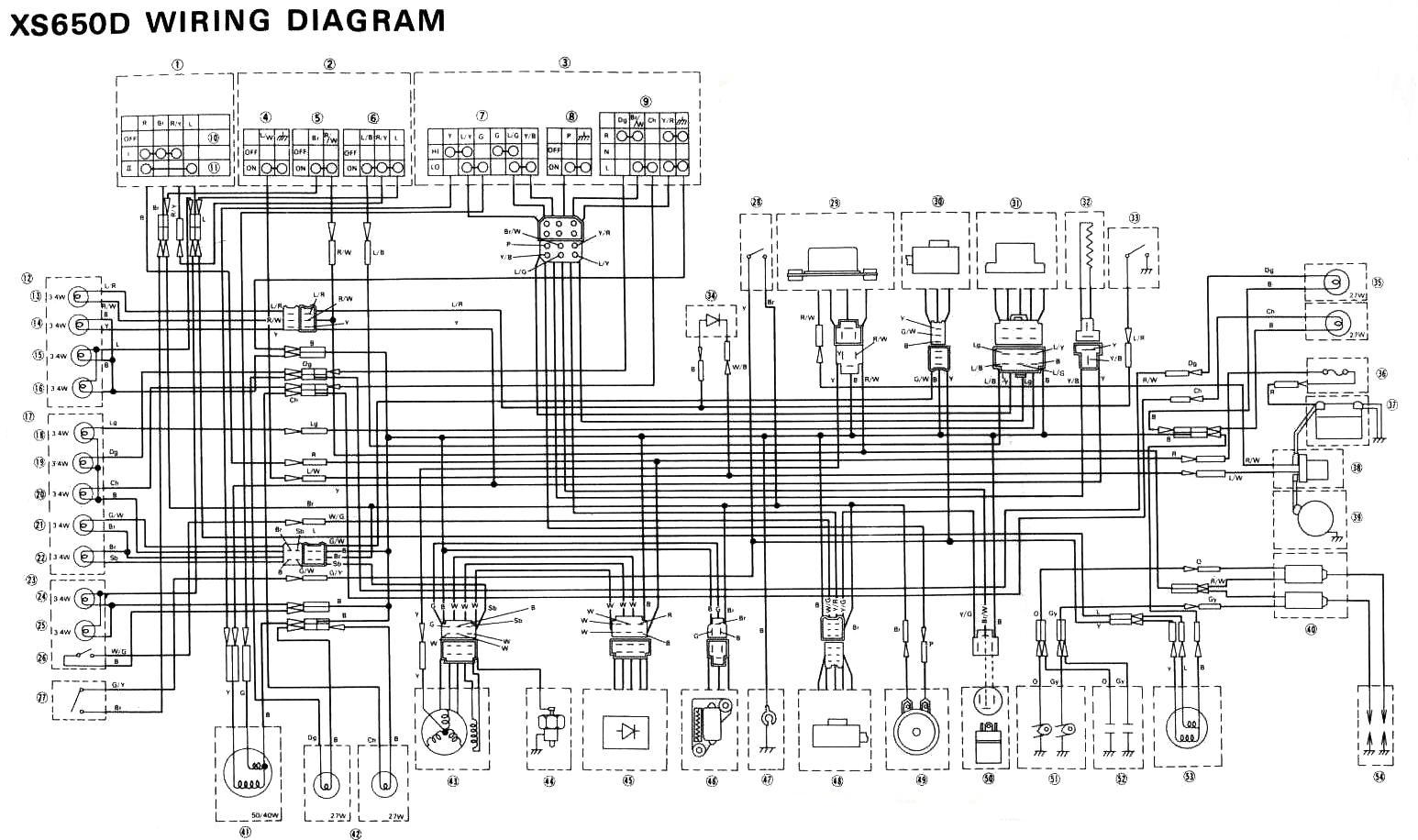 81 Xs 400 Wiring Diagram. . Wiring Diagram Xs Simplified Wiring Diagram on