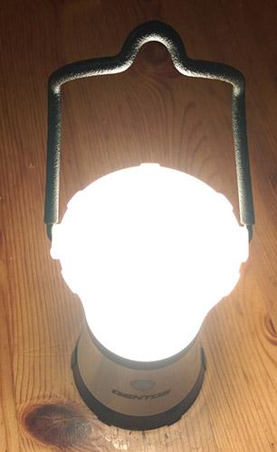 gentos136S点灯、上部が光る