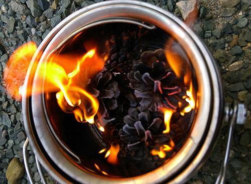 熱くならない火消し壺のテスト