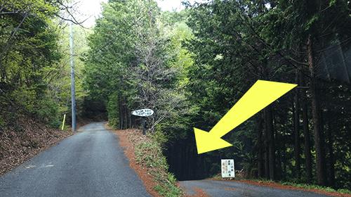 二軒屋キャンプ場までの道