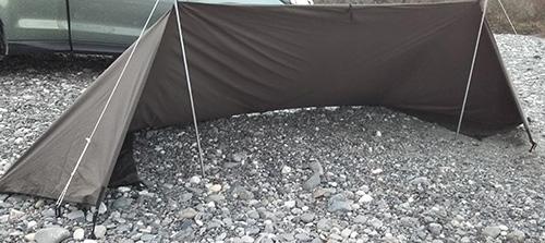 DDタープの張り方:風防