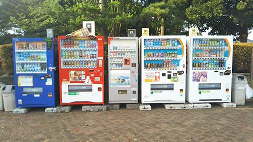 若洲公園キャンプ場自動販売機