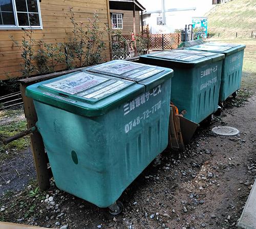 12坊温泉オートキャンプ場ゴミ箱