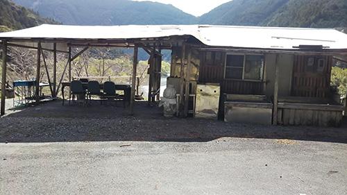 小川の里キャンプ場入り口