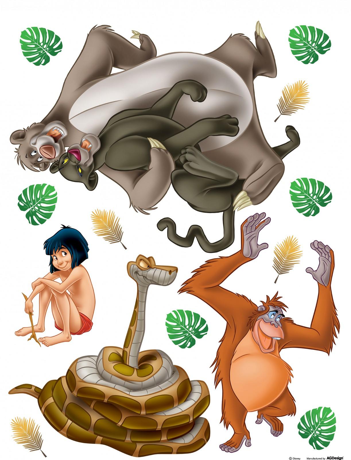 Disney Sticker Wandsticker Dschungelbuch Mogli 65x85cm