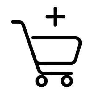 Panier des articles choisis pour effectuer un achat