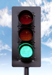 Traffic light on green - go sign