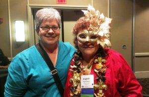 Hazel with Angela Wallace (RIP), NAPO President, at 2013 NAPO Conference in New Orleans.