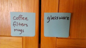 cupboard sticky notes