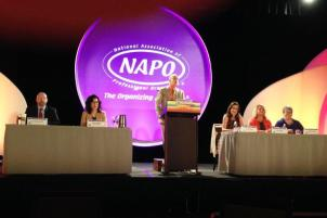 Golden Circle Ask the Organizers Panel, NAPO2014 in Scottsdale, AZ (Hazel far right)