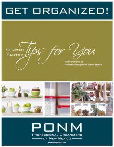 Kitchen pantry PONM cover