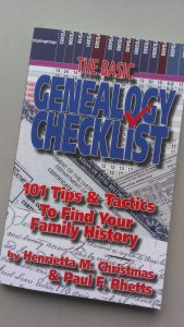 Genealogy checklist