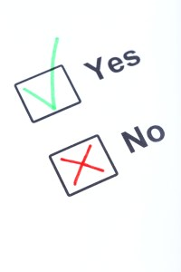 saying yes, saying no