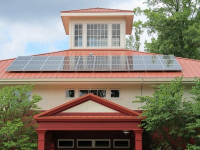 solar panels and eco-friendly materials