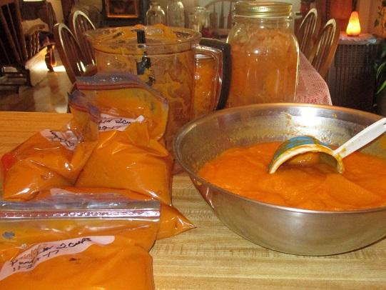 freezing pumpkins