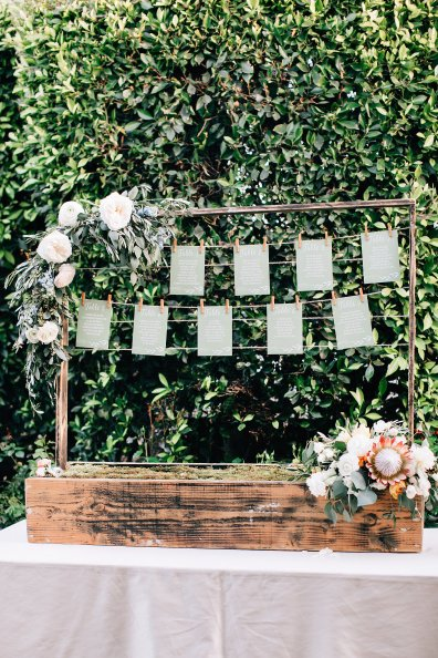 Tabletop Escort Card Structure