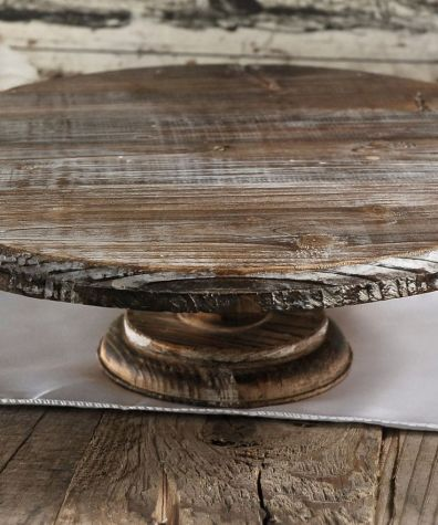 Wood and Gold Cake Stands