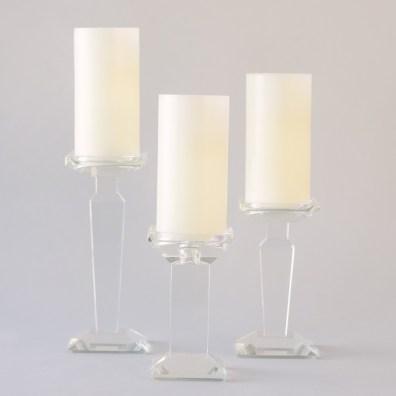 Crystal Pillar Holders