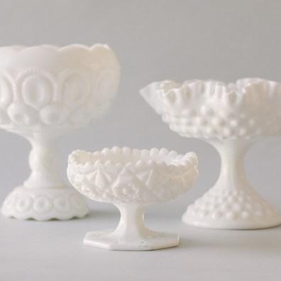 Milk Glass Vessels