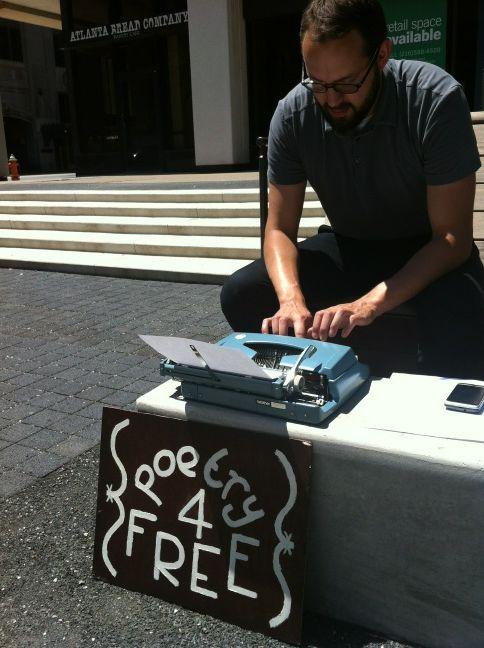 Poetry 4 Free in Perk Plaza on Walnut Wednesdays