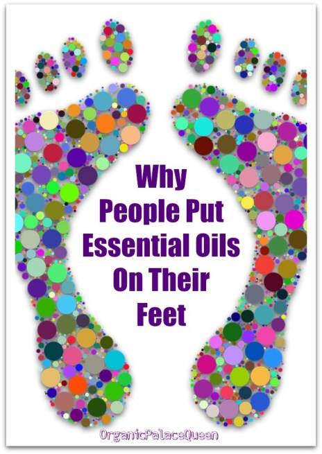 Putting essential oils on your feet
