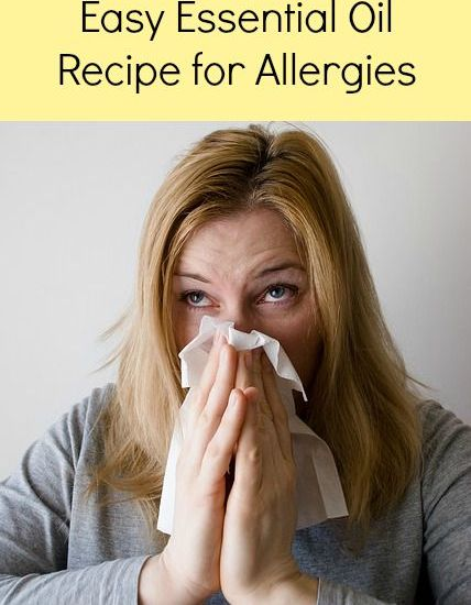 essential oil recipes for allergies
