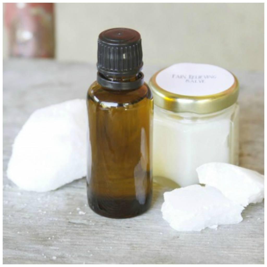 DIY pain cream with essential oils