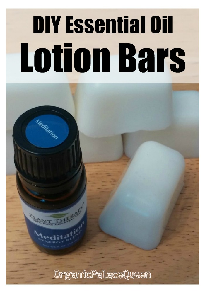 Homemade essential oil lotion bars