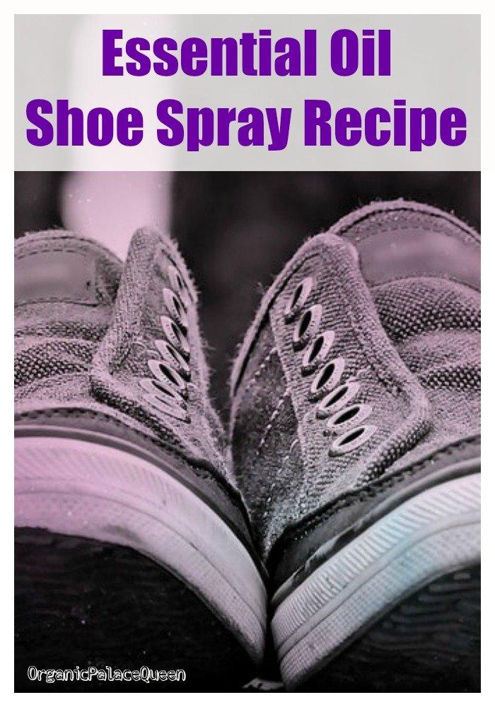 Essential oil spray recipe for shoes