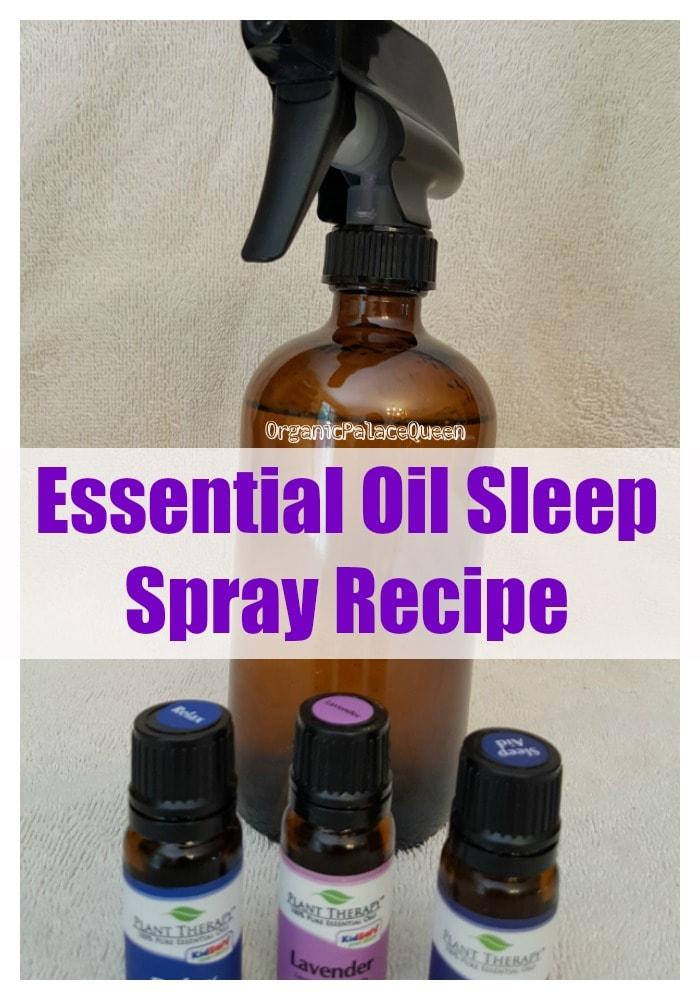 DIY essential oil sleep spray recipe