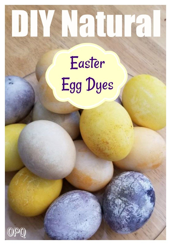 Natural Easter egg dyes from vegetables and spices