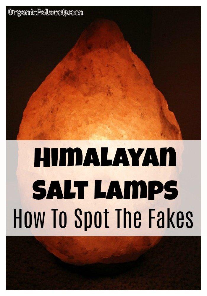 Fake Himalayan salt lamp warning