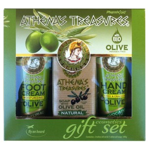 Gift Set Mini 24 ( Foot Cream Natural & Hand Cream Avocado 60ml & Olive Oil Soap Natural 100gr)