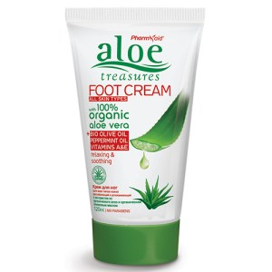 Aloe Treasures Foot Cream Olive Peppermint oil