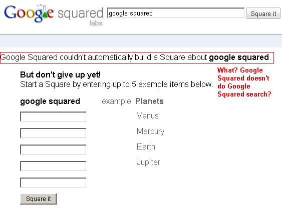 Google Squared Search Error