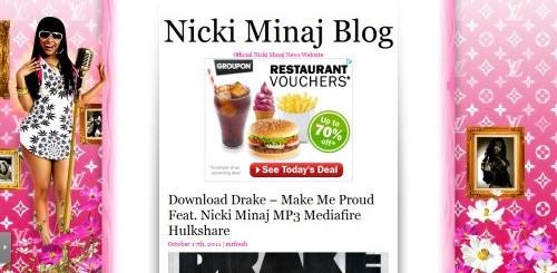 Nicki Minaj uses WordPress