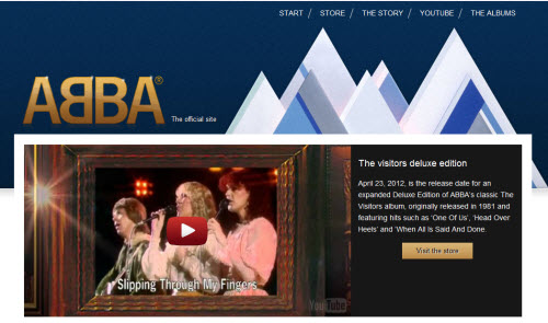 Abba use WordPress for their Website and Blog