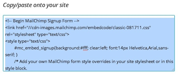 How to automatically select checkboxes in Mailchimp forms