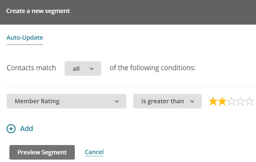 Learn how to create a Mailchimp segment using Member Ratings.
