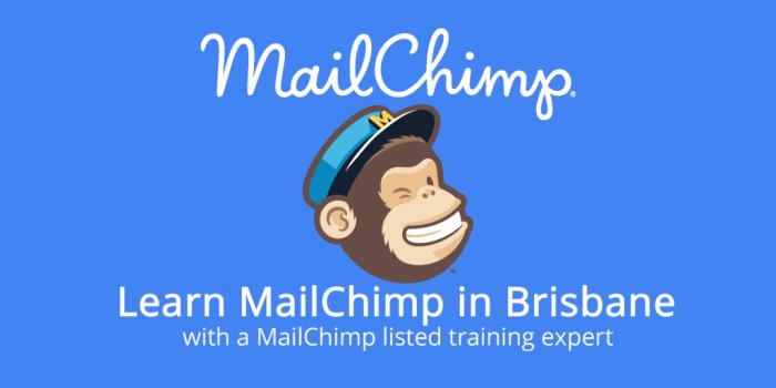 MailChimp logo with text describing MailChimp classes in Brisbane
